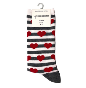 Love Sock Company Red Hearts