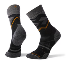 Smartwool Men's PhD® Outdoor Medium Pattern Hiking Crew Socks in black heather