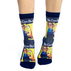 Good Luck Socks Rosie the Riveter women's sock