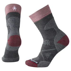 Smartwool Women's PhD® Pro Outdoor Medium Hiking Crew Socks in medium gray