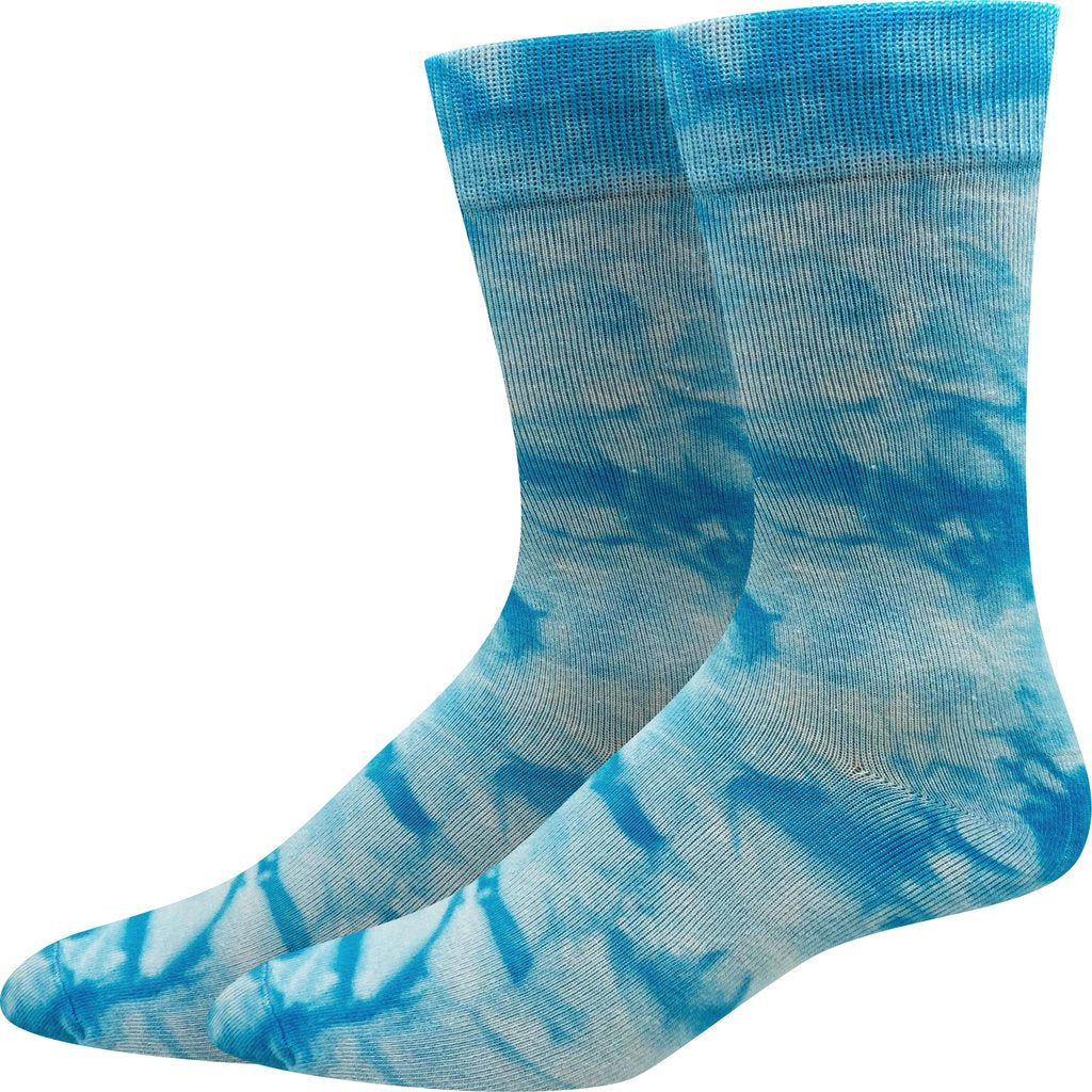 Sock Harbor Blue Tie Dye women's and men's sock