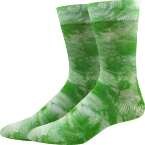 Sock Harbor Green Tie Dye women's and men's sock