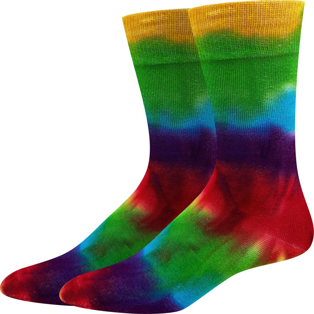 Sock Harbor Rainbow Tie Dye women's and men's sock