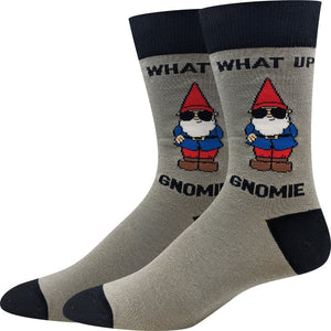 Sock Harbor What Up Gnomie men's sock