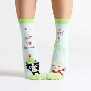 Sock It To Me All I Want for X-mas women's sock