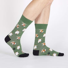Sock It To Me Dapper Goats men's sock