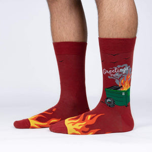Sock It To Me Dumpster Fire men's sock