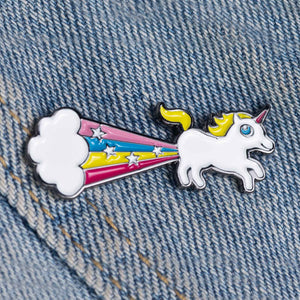 Sock It To Me Rainbow Blast enamel pin