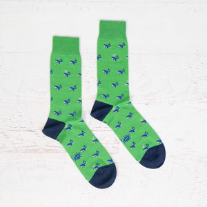 Sock It To Me Whale men's luxe