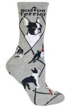 Wheel House Boston Terrier women's and men's sock