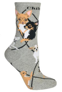 Wheel House Chihuahua women's and men's socks