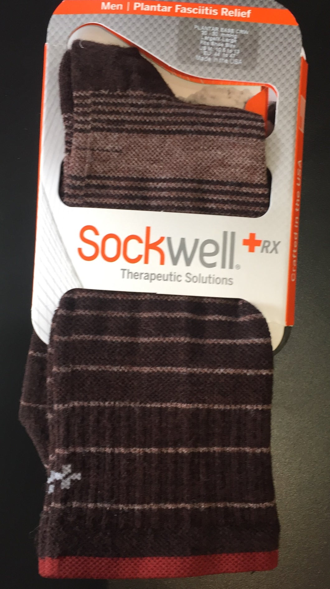 Sockwell Plantar Ease Crew Firm Compression men's