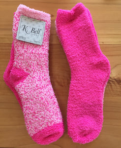 K. Bell Fuzzy lounge sock 2-pair