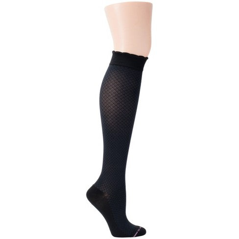 Dr Motion Womens Mild Compression Knee Socks Scallop