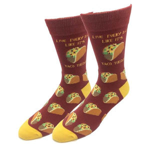 Sock Harbor Live Everyday Like It's Taco Tuesday men's sock