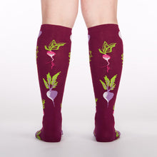 Sock It To Me women's knee high Turnip the beet
