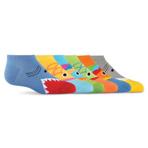 K. Bell multi-bright Wide Mouth 6 Pair Pack No Show Socks