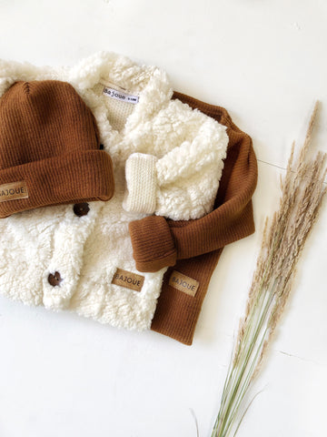 baby sheep jacket and hat winter winter