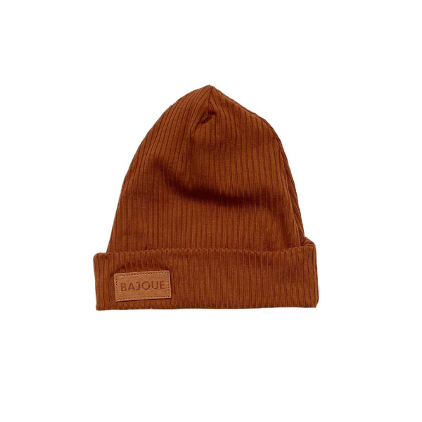 Bamboo beanie for babies and children-Rust