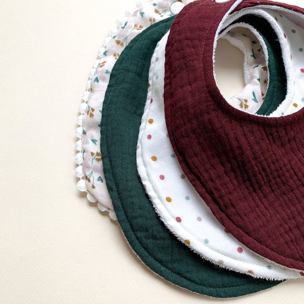 Absorbent bib for babies-Cassis