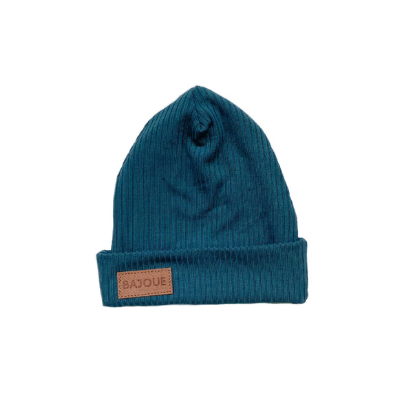 Bamboo beanie for babies and children-Azure