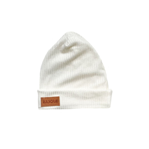 Bamboo beanie for babies and children-Cream