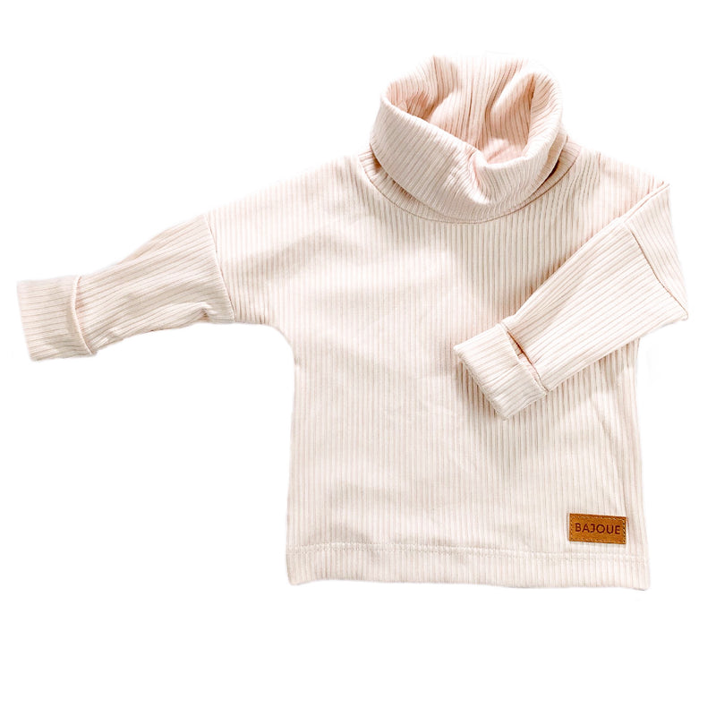 Turtleneck for babies and kids-Blush