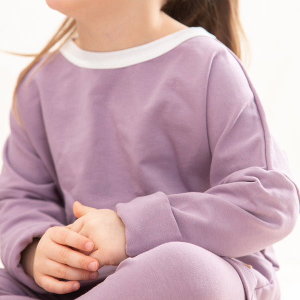 Sweater for babies and children-Lavender