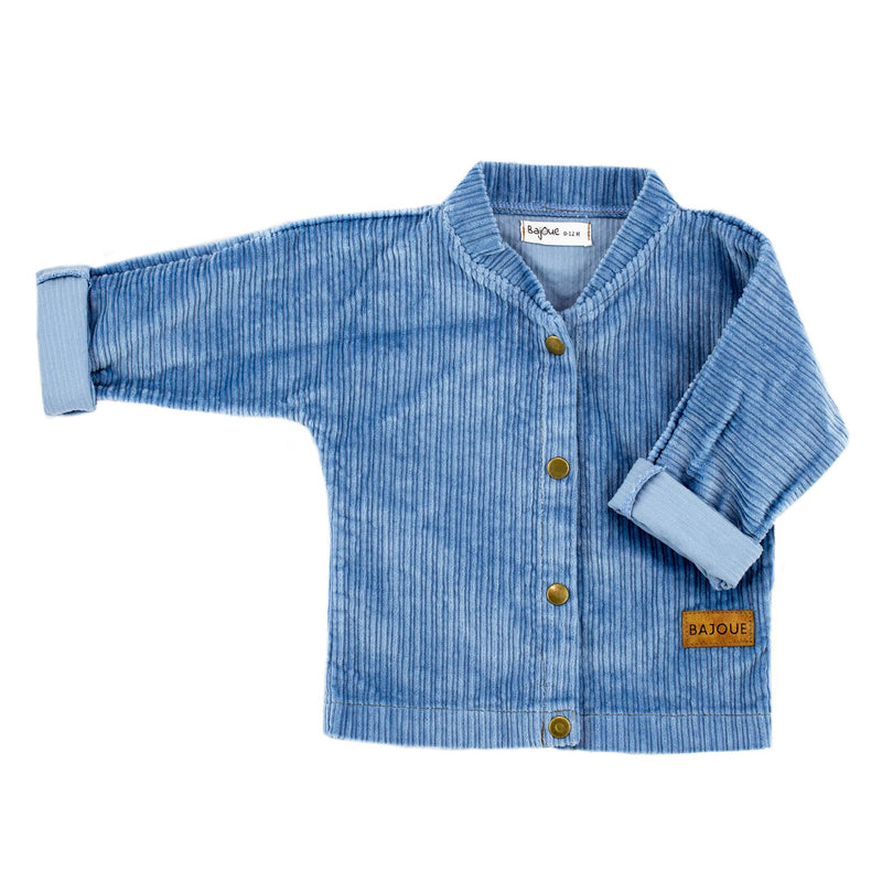 Outerwear jacket-child baby bleupoudre
