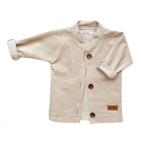 Jacket for babies and children-Latté