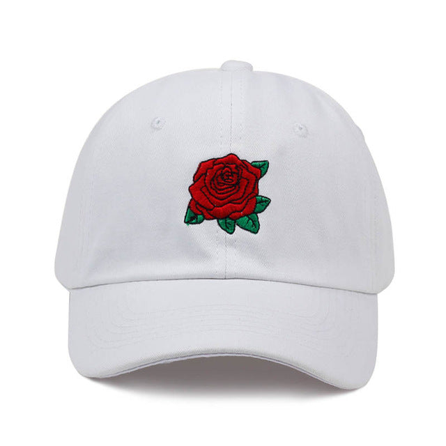Red Rose Dad Hat