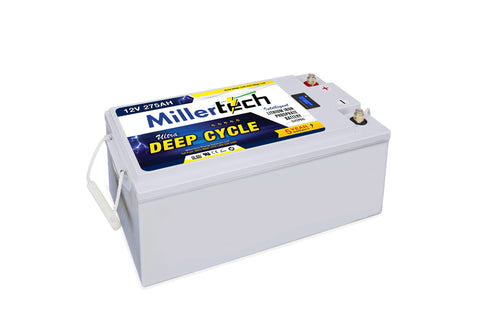 MillerTech 275Ah Premium 12V Ultra Deep Cycle Lithium Iron Phosphate LiFePO4 Smart Battery