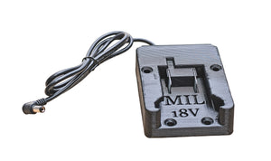 MillerTech 1236 Battery Dock Adapter For Milwaukee 18V Power Tool Batteries