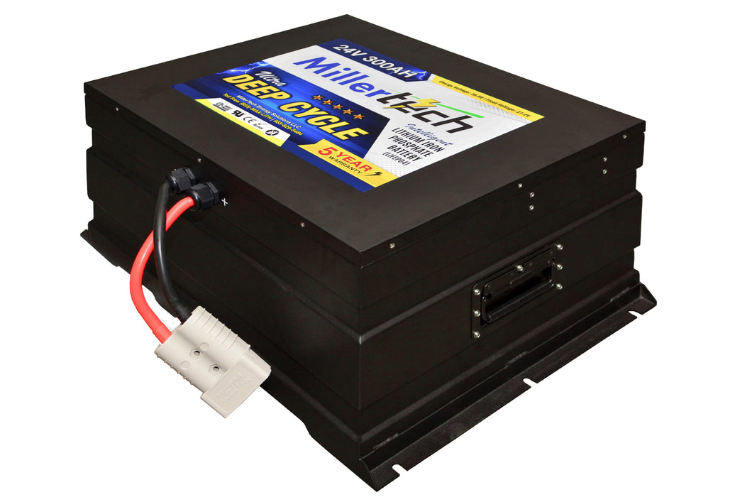 300Ah 24V (25.6V) Lithium Iron Phosphate (LiFePO4) Smart Battery