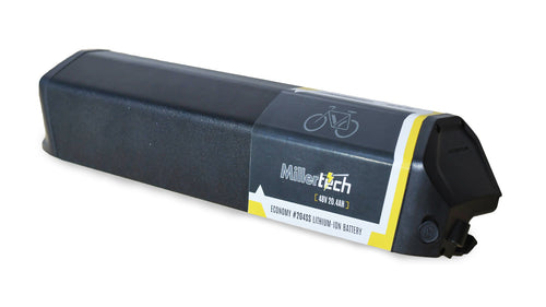 MillerTech 48V 20.4Ah ECONOMY Lithium Ion E-Bike Battery With Case (204SS)