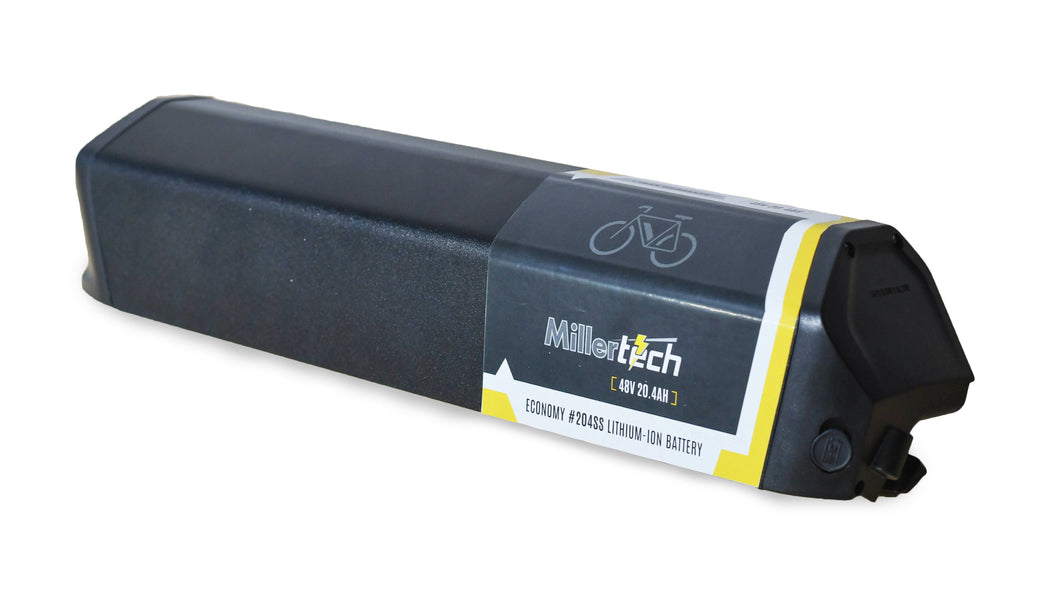 48V 20.4Ah ECONOMY Lithium Ion E-Bike Battery With Case