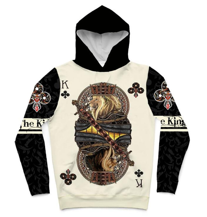 "NEW ""The King"" Poker Card 3D Hoodie"