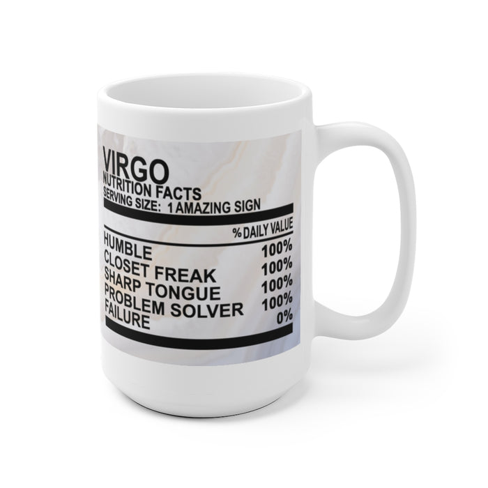 Virgo Nutrition Facts Mug