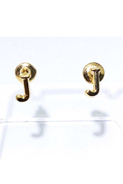 Dakotas Letter Stud Earrings