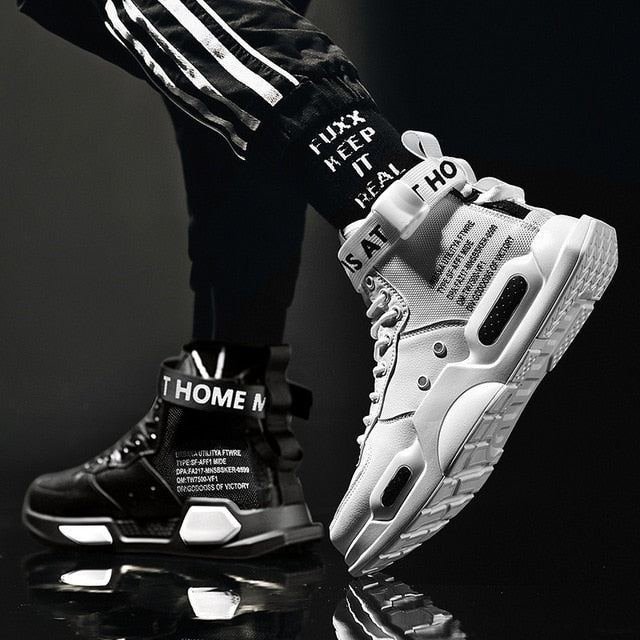 Men's High Top Fashion MisMatch Sneakers