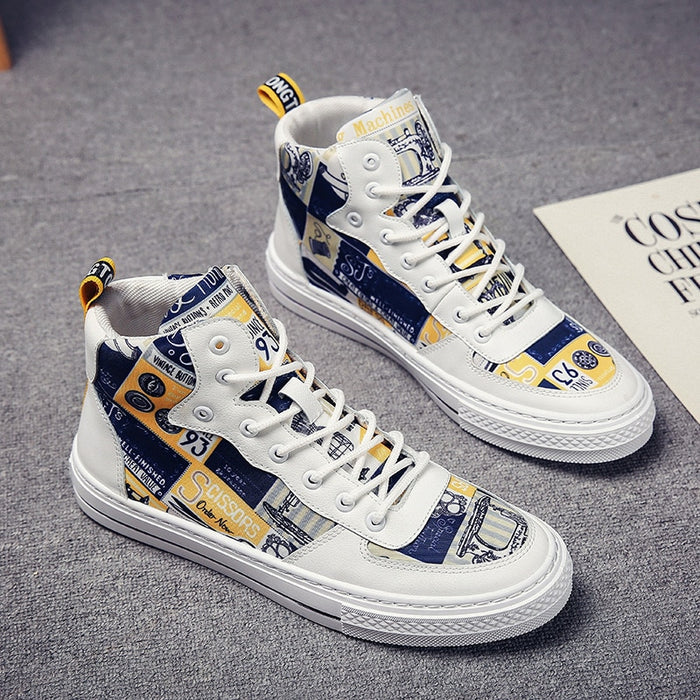 Canvas Patchwork Unisex Sneakers