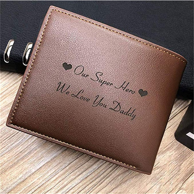 Personalized Engraved Leather Wallet