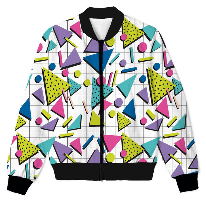 "Retro ""I love the 90s"" 3D Print Lightweight Jacket"