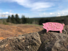 Pay Up Pig enamel pin