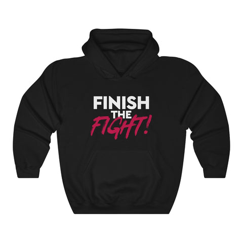Finish the Fight Unisex Heavy Blend™ Hooded Sweatshirt MasteringPop.com