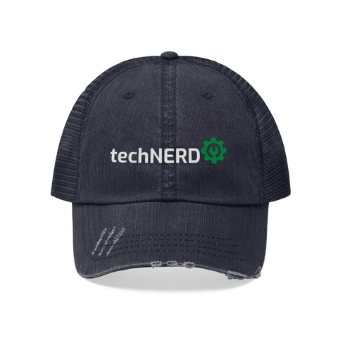 Technerd Unisex Trucker Hat Avail in Colors Navy Blue & Black