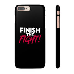 Black Finish the Fight Cell Phone Snap Case