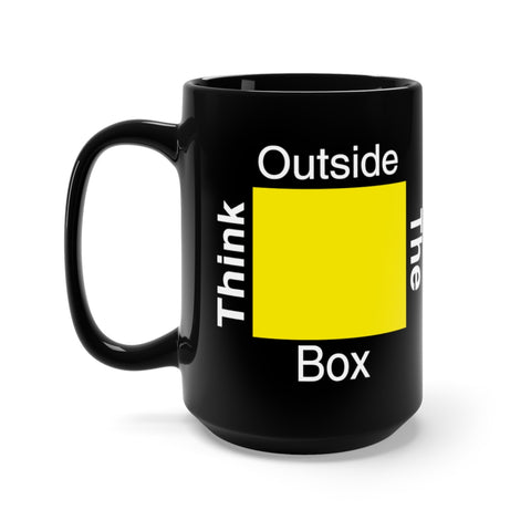Black Think Outside the Box Mug 15oz