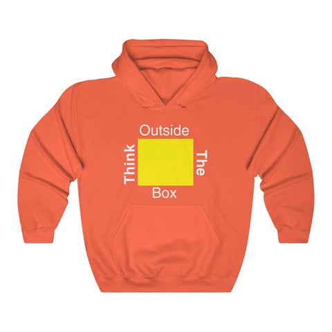 Think Outside the Box Unisex Heavy Blend™ Hooded Sweatshirt All Colors MasteringPop.com