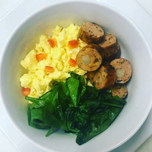 Mozzarella Chicken Sausage Breakfast Bowl
